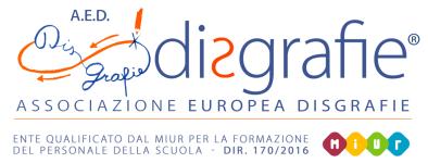 Logo of AED - Associazione Europea Disgrafie